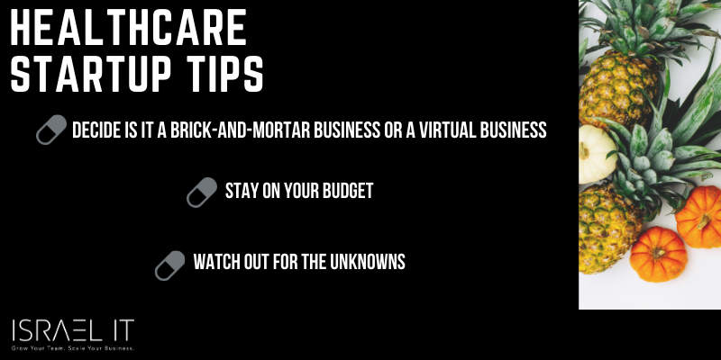 healthcare startup tips